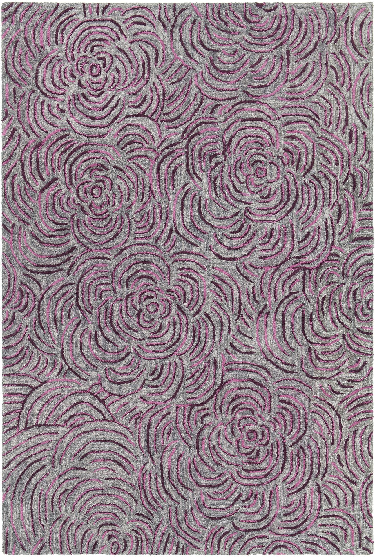 Leia Hand Woven Burgundy Gray Area Rug Products Pinterest