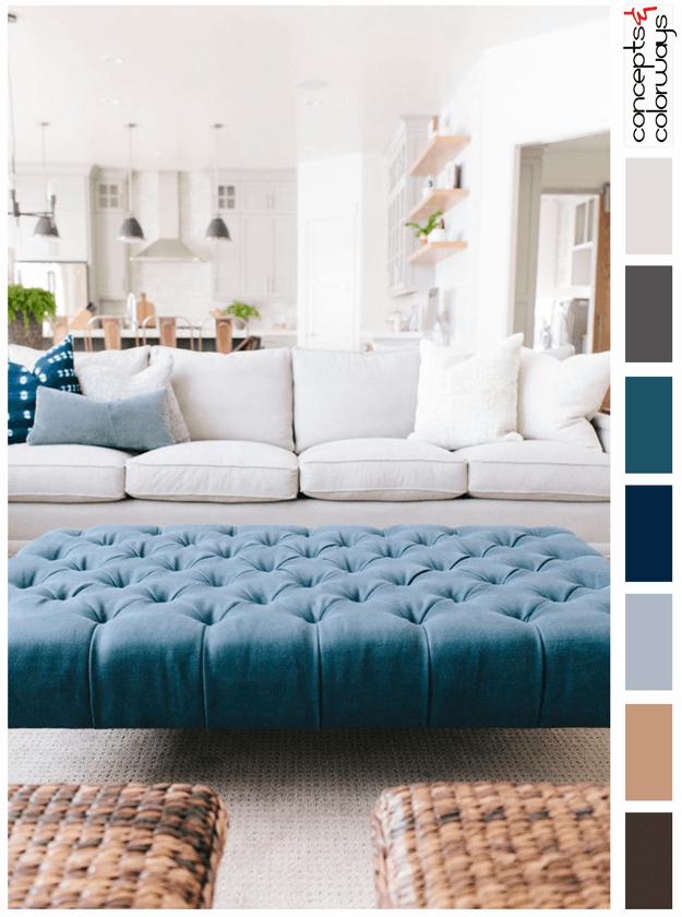 Interiors White Modern Farmhouse Interior Color Palettes
