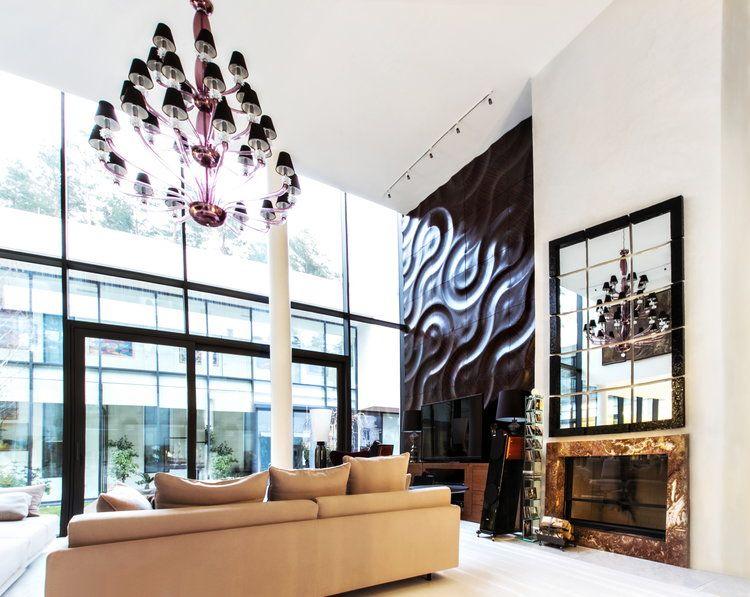 3d Wandpaneele Wandverkleidung Holz Luxus Wohnzimmer Akzent Kamin #wall  #panels