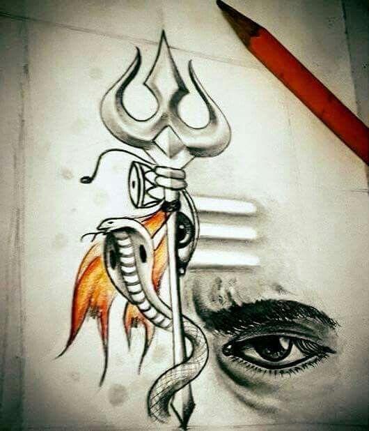 Pin by sneha on har har mahadev pinterest lord shiva for Har har mahadev tattoo