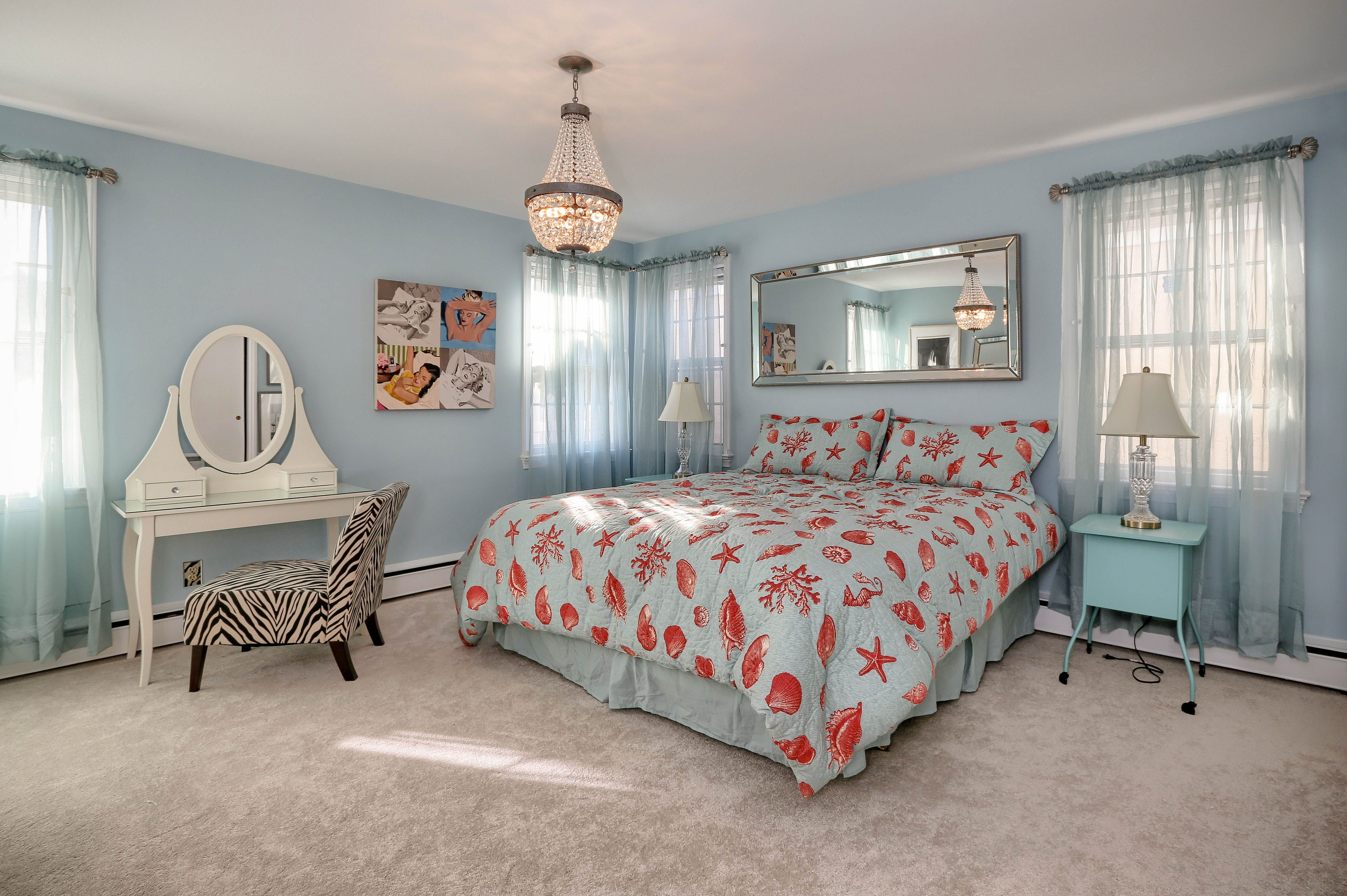A Beautiful Blue Beach Themed Bedroom At The South Jersey Shore 8