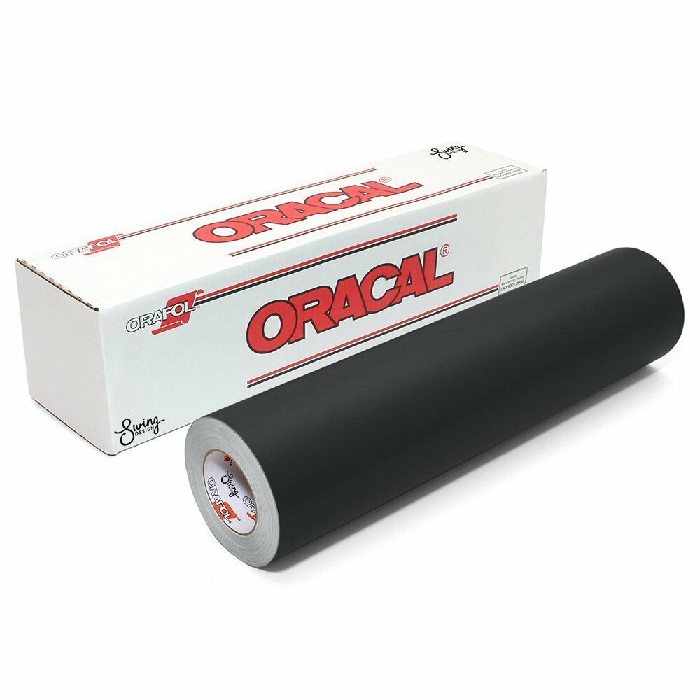 Permanent Vinyl 2 5 Mils Thick Matte Roll 12 Inch X 6 Feet Adhesive Black New Oracal Vinyl Rolls Oracal Permanent Vinyl