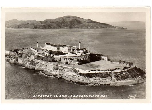 Vintage 1930s Alcatraz Island Prison Photo Postcard 13 By Piggott