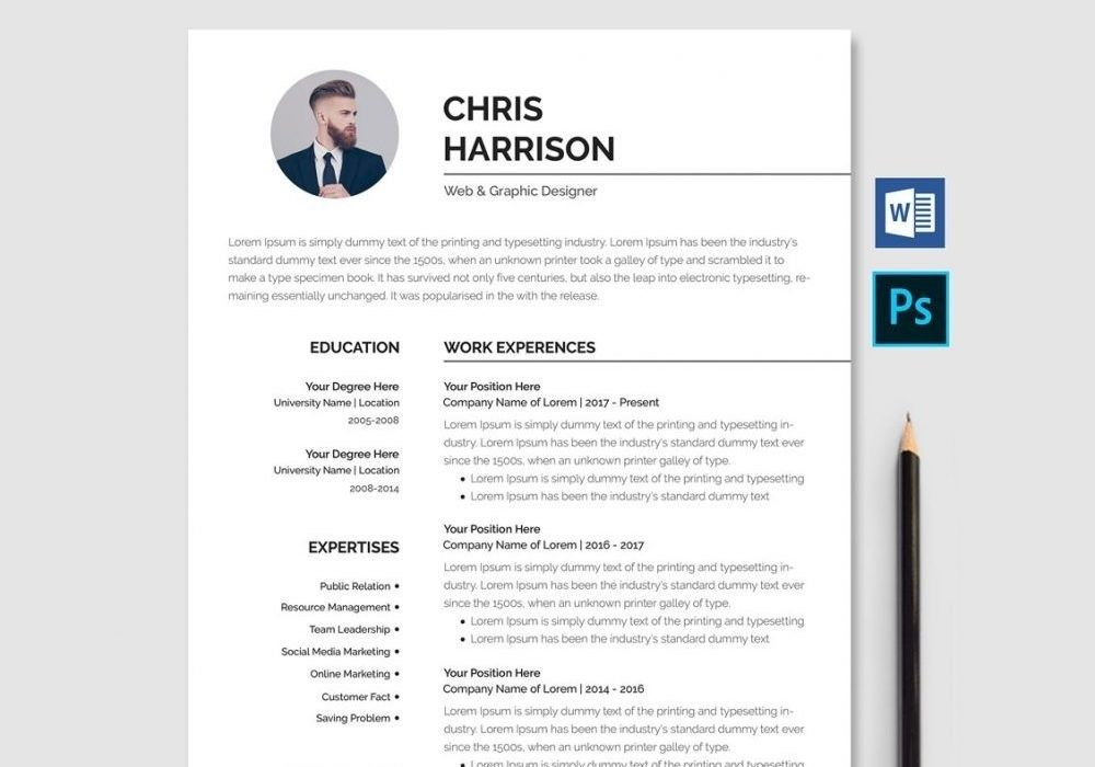 professional resume template word psd 2020 maxresumes