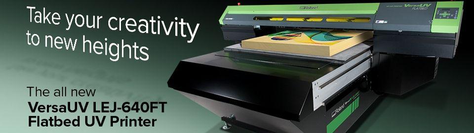 Roland DG UK - Products The new LEJ-640FT flatbed UV printer