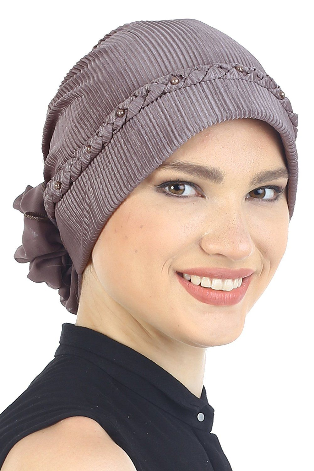 Braided & Pearl Detail Headwear (Black) at Amazon Women's Clothing store:
