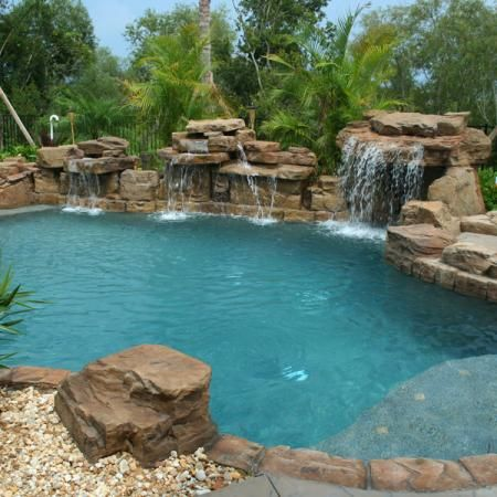 and I will have a pool with a waterfall.