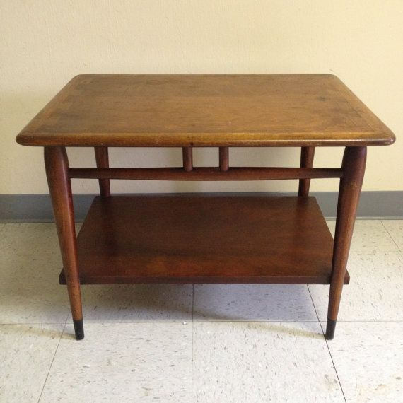 1950s Mid Century End Table By Lane Furniture: Vintage Mid Century Lane Acclaim Wood Side End Table