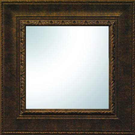 "$12.90  + $4.97 shipping  19"" x 19"" Bronze Ornate Square Mirror - OVER SHELF & SPINNING WHEEL Walmart.com"