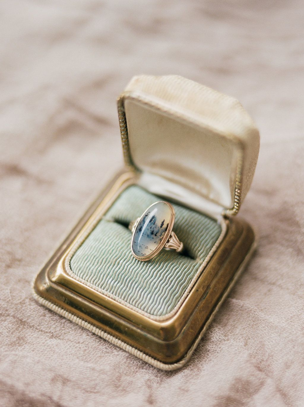 unique rings agate wedding solitaire pin engagement sterling enamel blue gift man silver ring