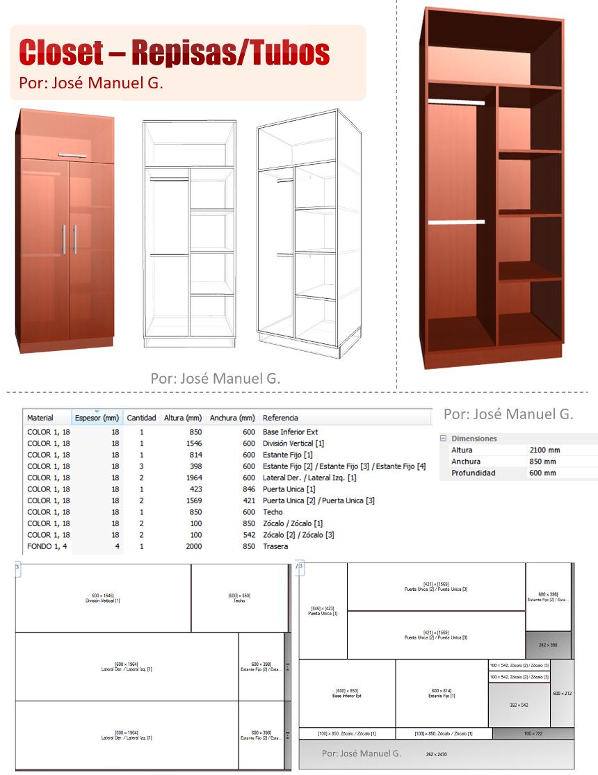 Dise o de muebles madera dise o 3d closet como hacer un for Programa para hacer habitaciones en 3d