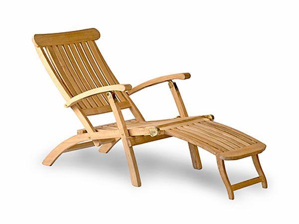 Classic Teak Steamer Chair Deck Chairs Teak Outdoor Furniture