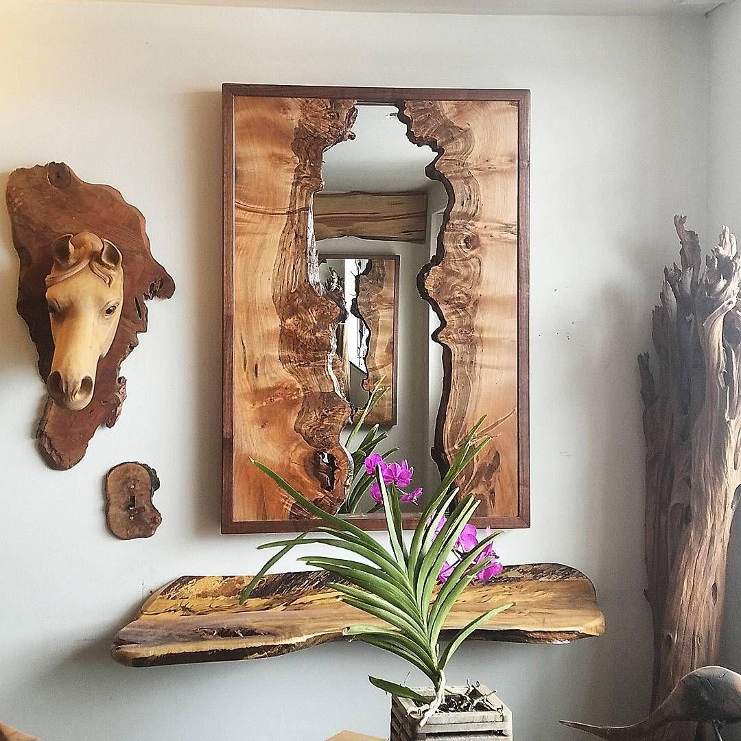 Live Edge Showroom//Natural Wood Art//Artisan Rustic Home Decor//