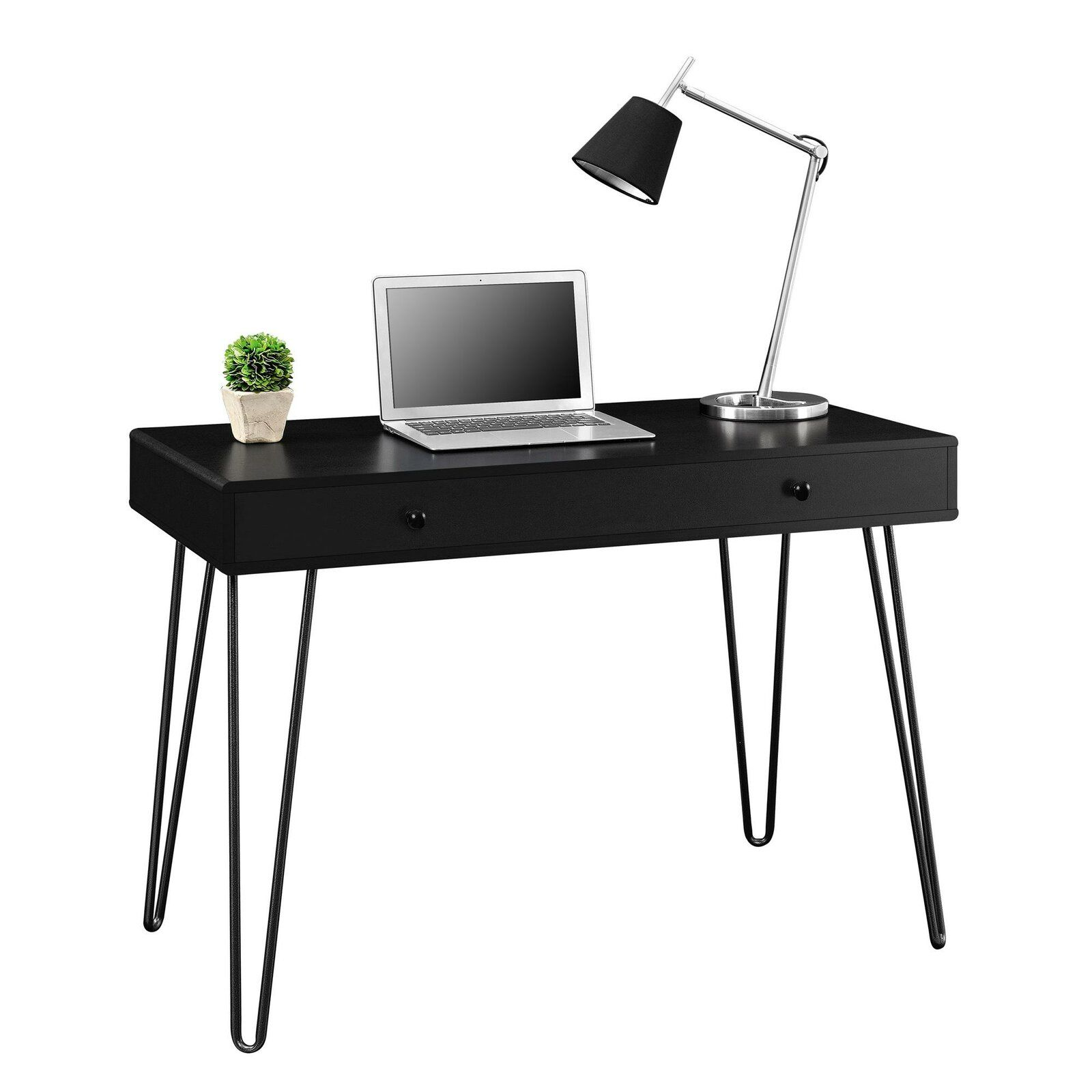 Folkston Desk Retro Desk Desk With Drawers Writing Desk With Drawers