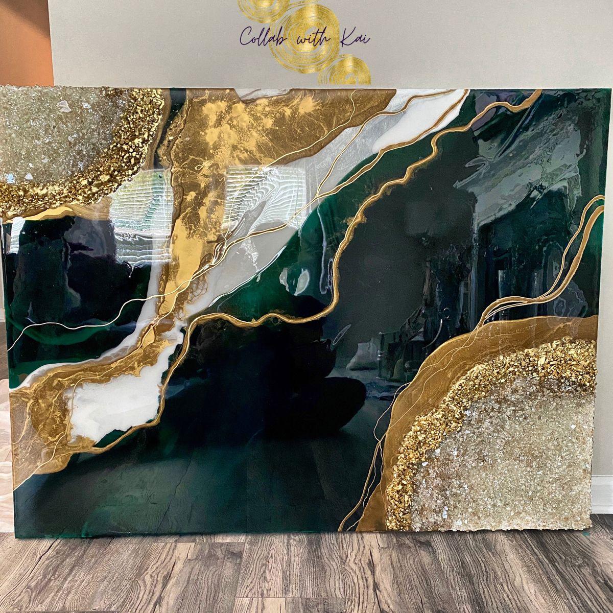 Custom Agate Resin Art
