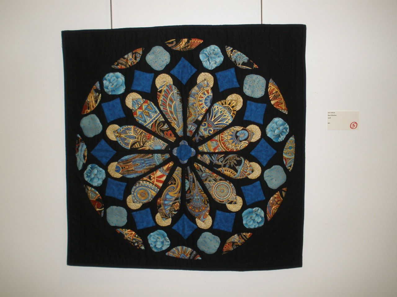 """Rose Window"" by Val Catford, Etobicoke Quilters' Guild"