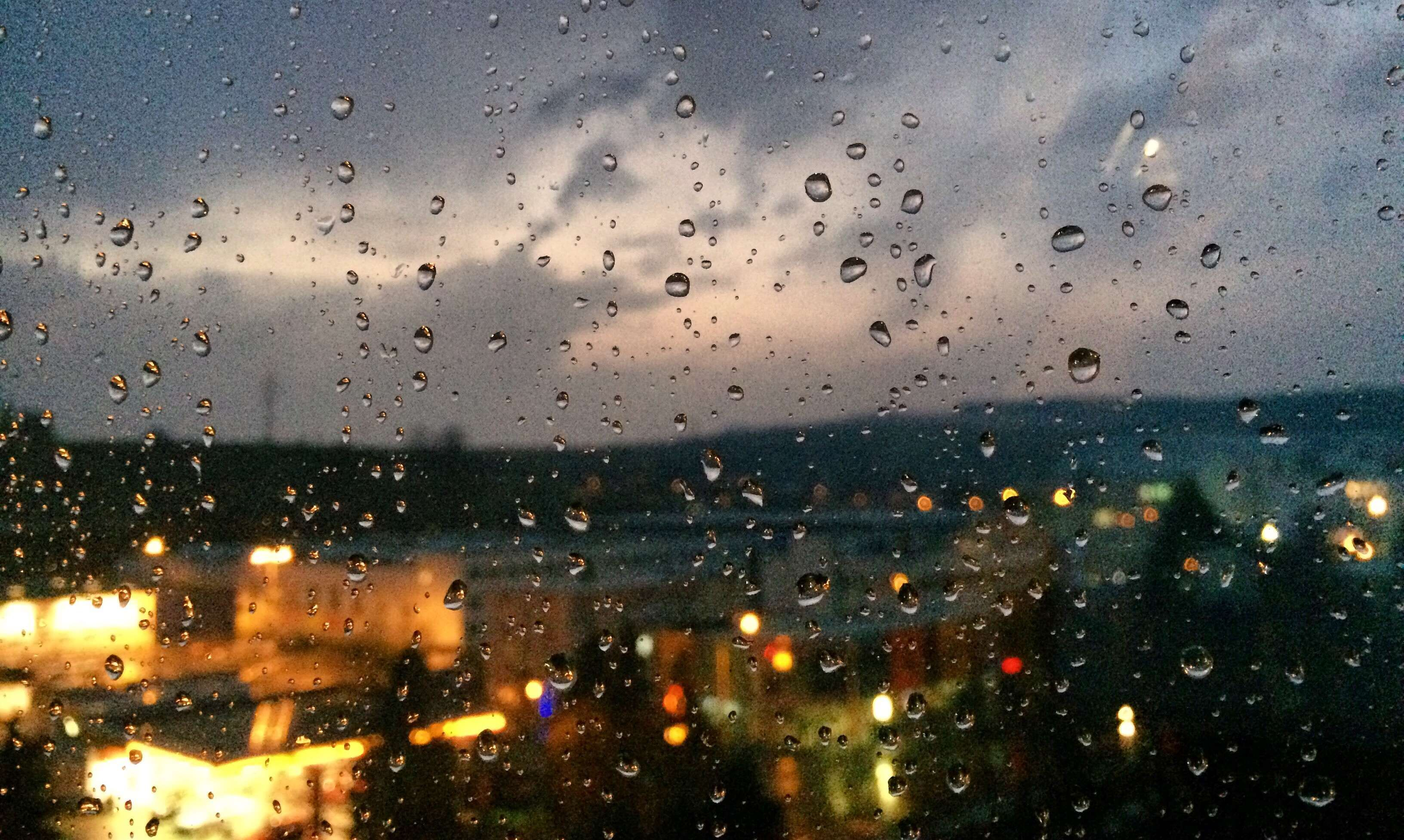 City Clouds Dark Day Lights Night Panorama Rain Rainy Sky Slovakia Slovensko View Weather Window Ville Nuit Nuit Fenetre