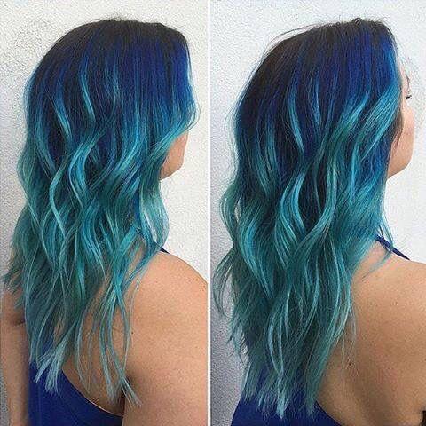Dark Roots And Blue Hair Hair Roots Hair Faded Hair