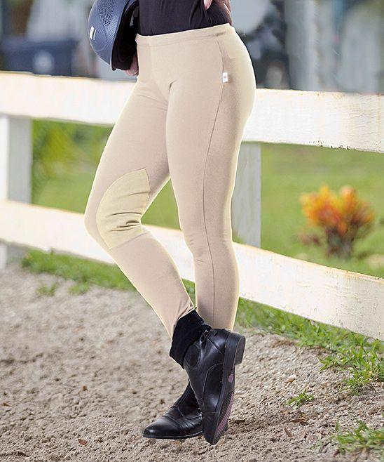 Beige Riding Tights - Women