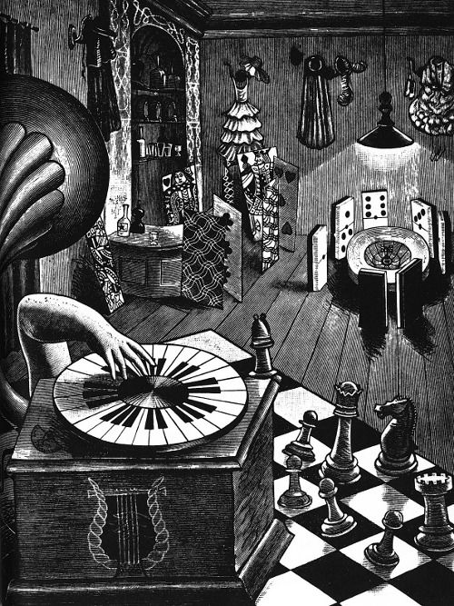 the life of the dead... - (wood engraving)(1933) - #life #dead #woodengravign #1933