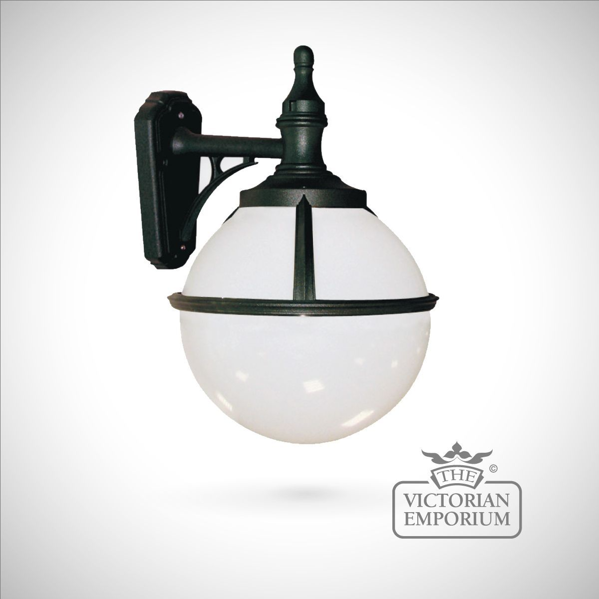 Buy Globe Wall Lantern, Outdoor Wall Lights   Spherical Black Wall Light  With Opaque Shade