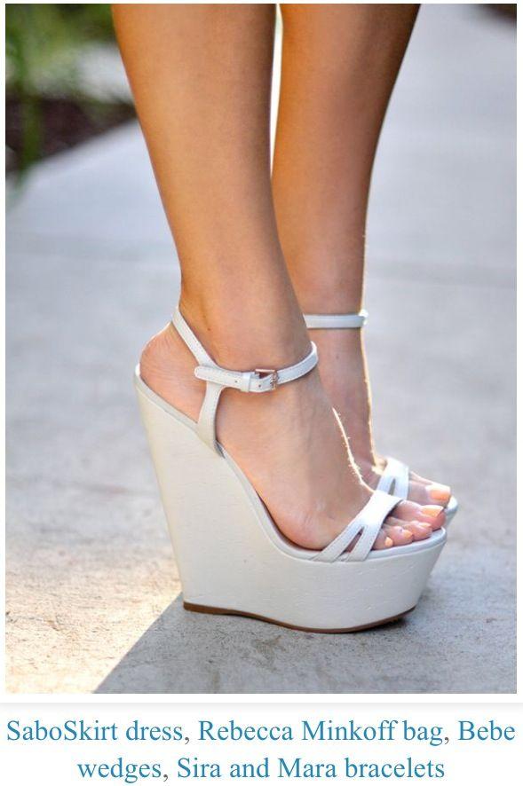ahorrar 63ded f9d8f Cute wedges | Belleza | Zapatos, Plataformas zapatos y Tacones