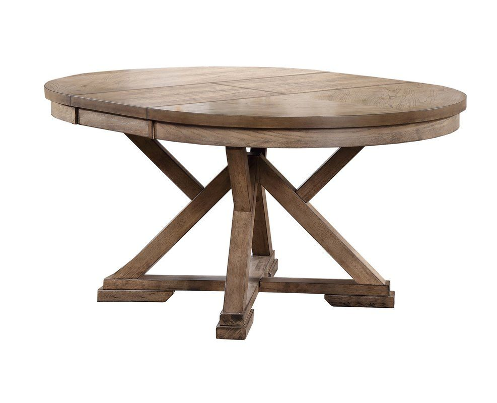 Charmant Carnspindle Round Butterfly Leaf Dining Table