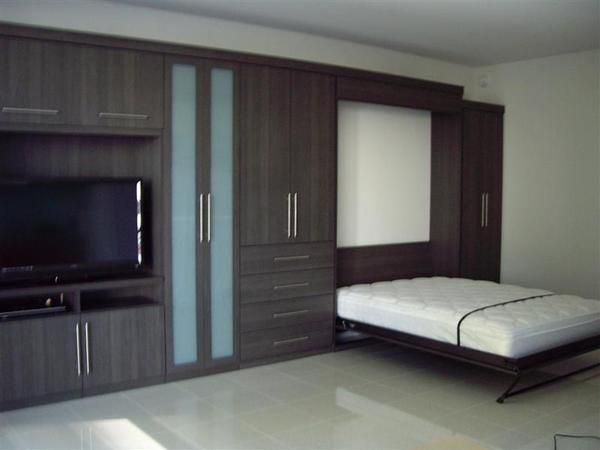 wall bed in milano grey by california closets of las vegas via behance - Designer Wall Beds