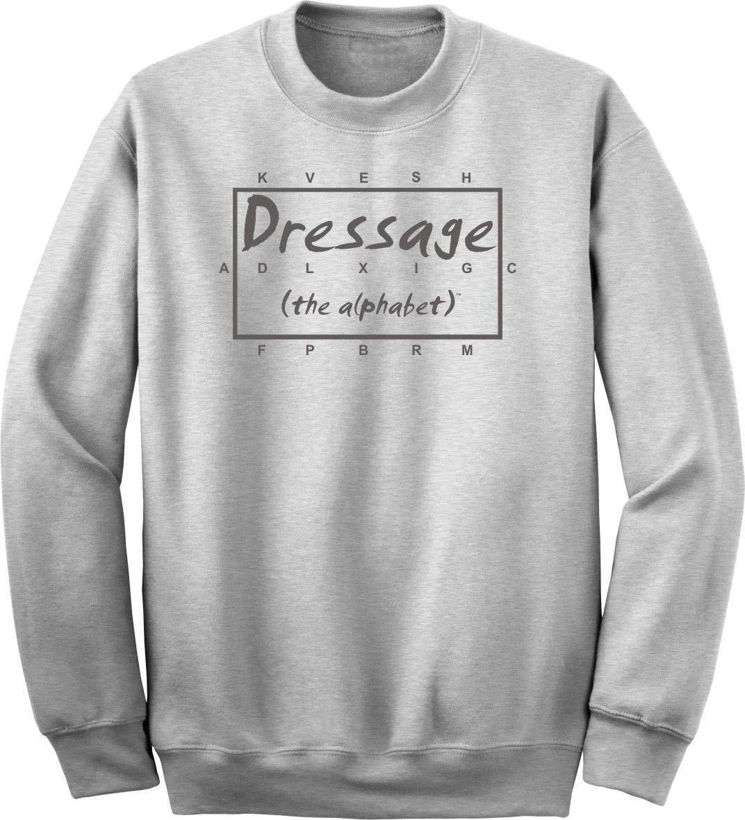 Dressage The Alphabet Horse Lover Ash Sweatshirt