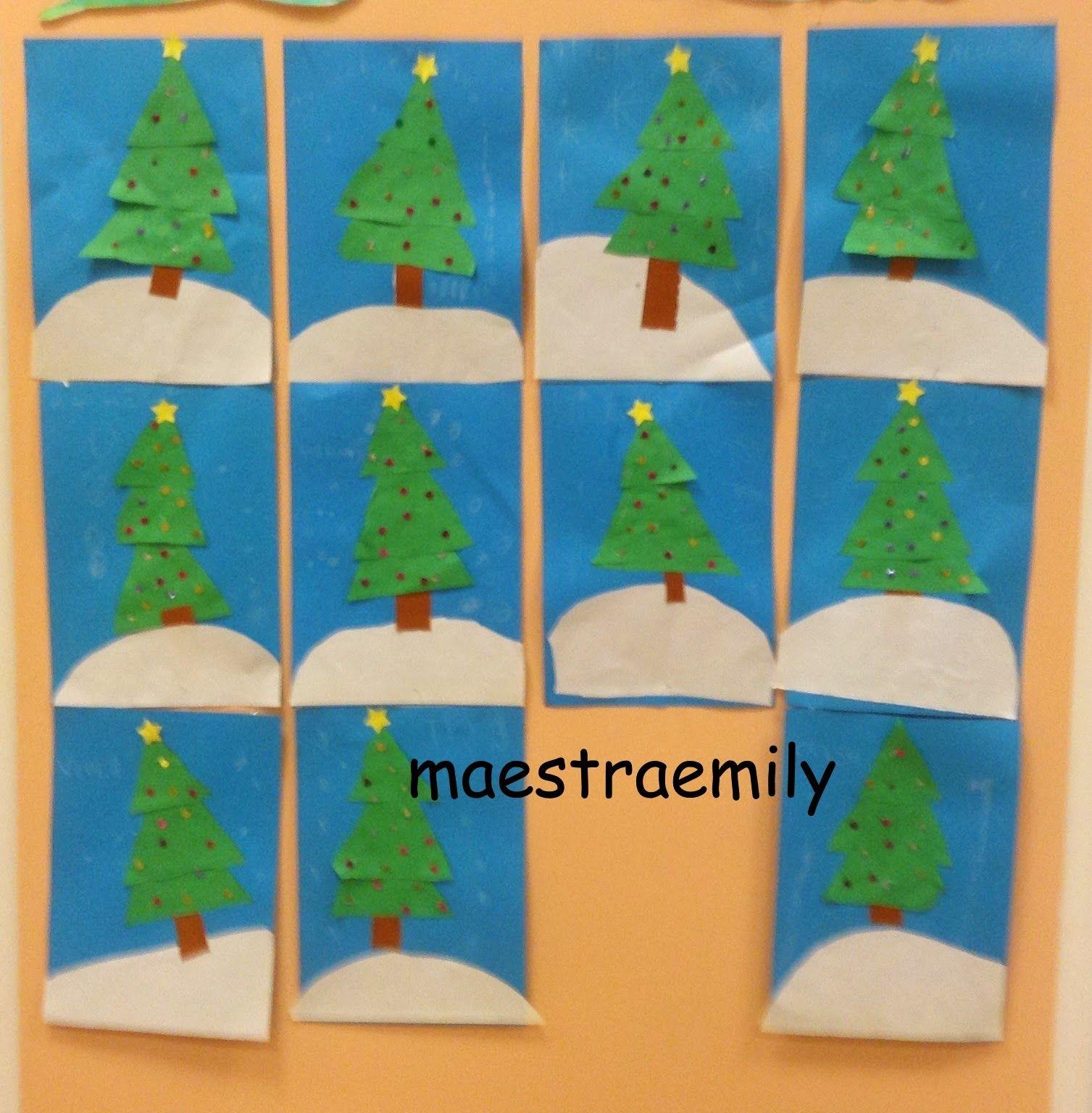 Foto Collage Di Natale.Maestraemily Albero Di Natale A Collage Natale Alberi Di Natale Collage