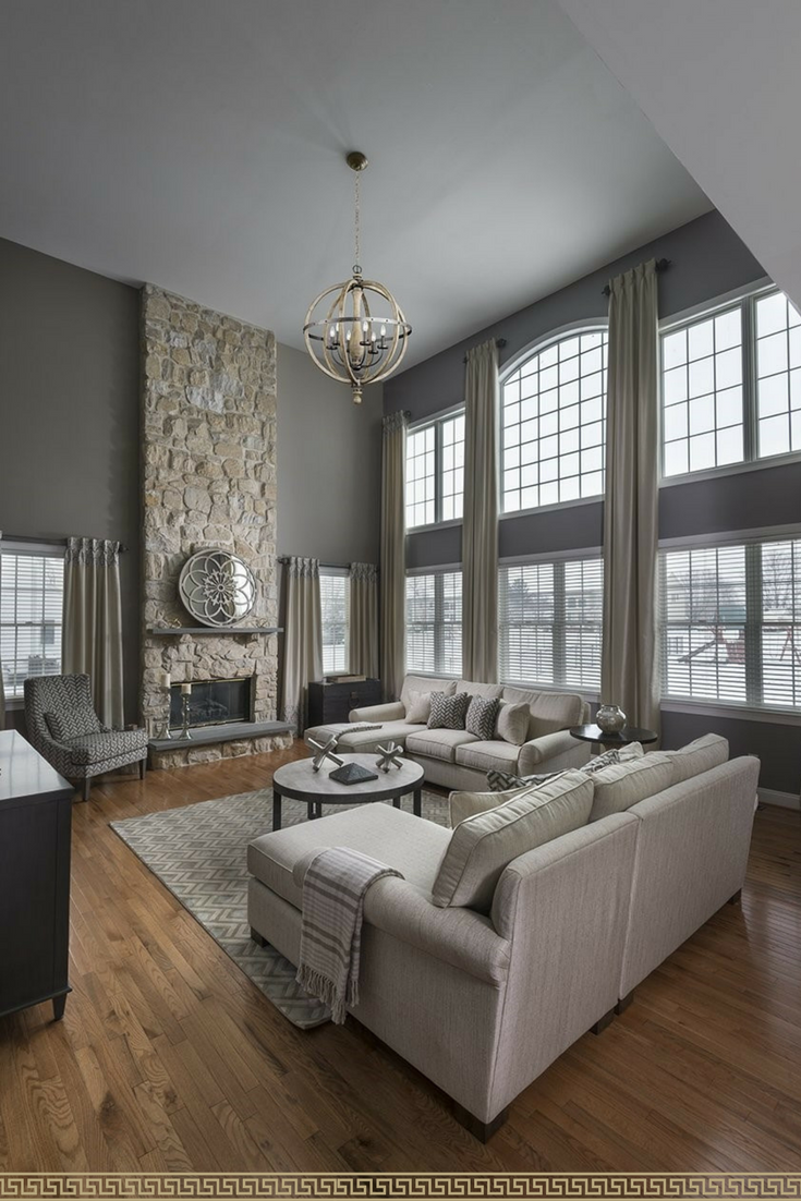 Love These Big Windows Living Rooms With Gray Couches And