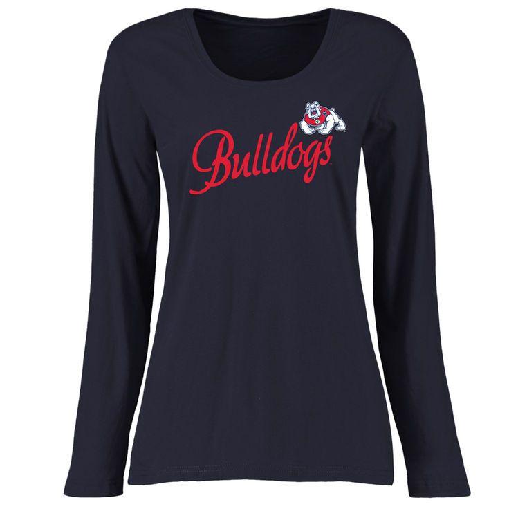 6151cd4fd Fresno State Bulldogs Women's Plus Sizes Dora Long Sleeve T-Shirt - Navy -  $29.99