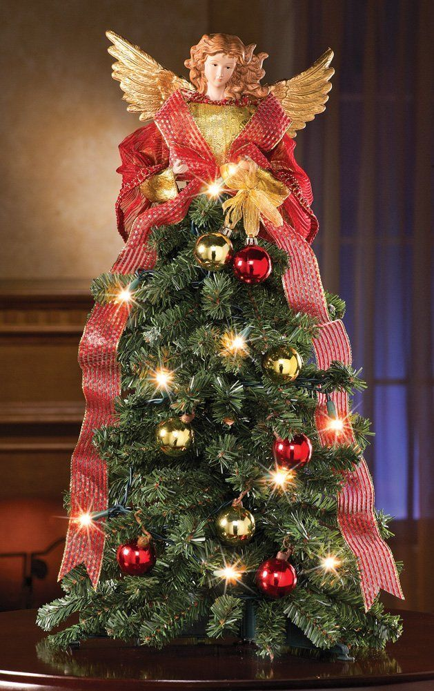 24 Inches Beautiful Christmas Angel Lighted Christmas Tree