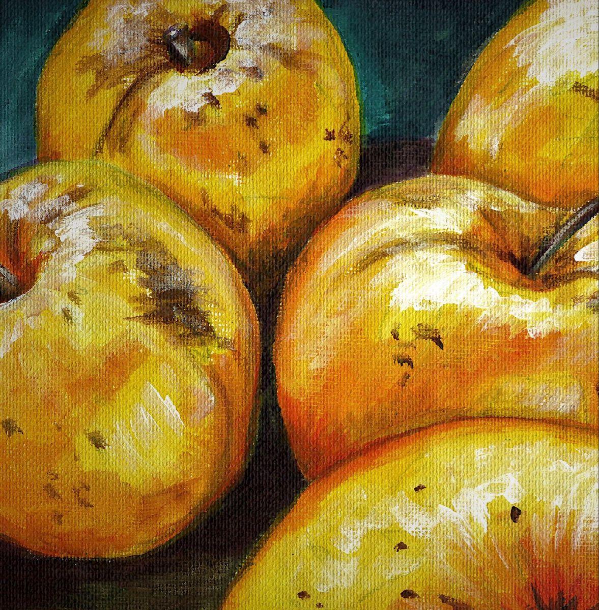 #painting #acrylicpainting #stilllifepainting #apples #harvest #autumn #mabon #fall #fineart #cottagecore #cozycore #autumncozy #supportlivingartists #supportsmallbusiness #salemoregonartist #whatpennymade