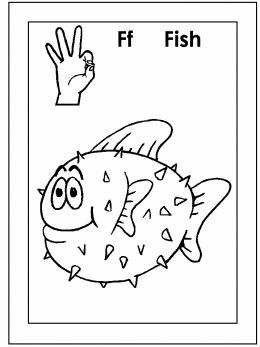Asl For F Coloring Page