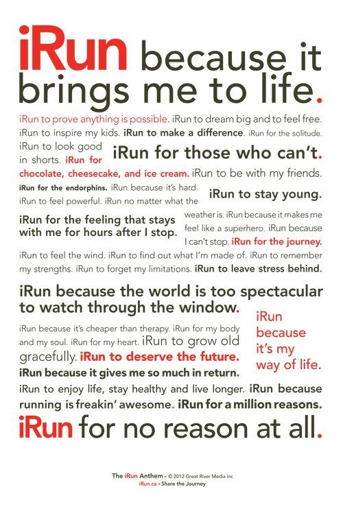 Photo of I RUN Because … Get more running motivation on Favorite Run Facebook page – ww…