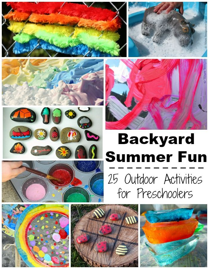 Backyard Summer Fun Outdoor Kids Activities For Preschoolers To Do This Art Crafts Motor Skills Sensory Snacks