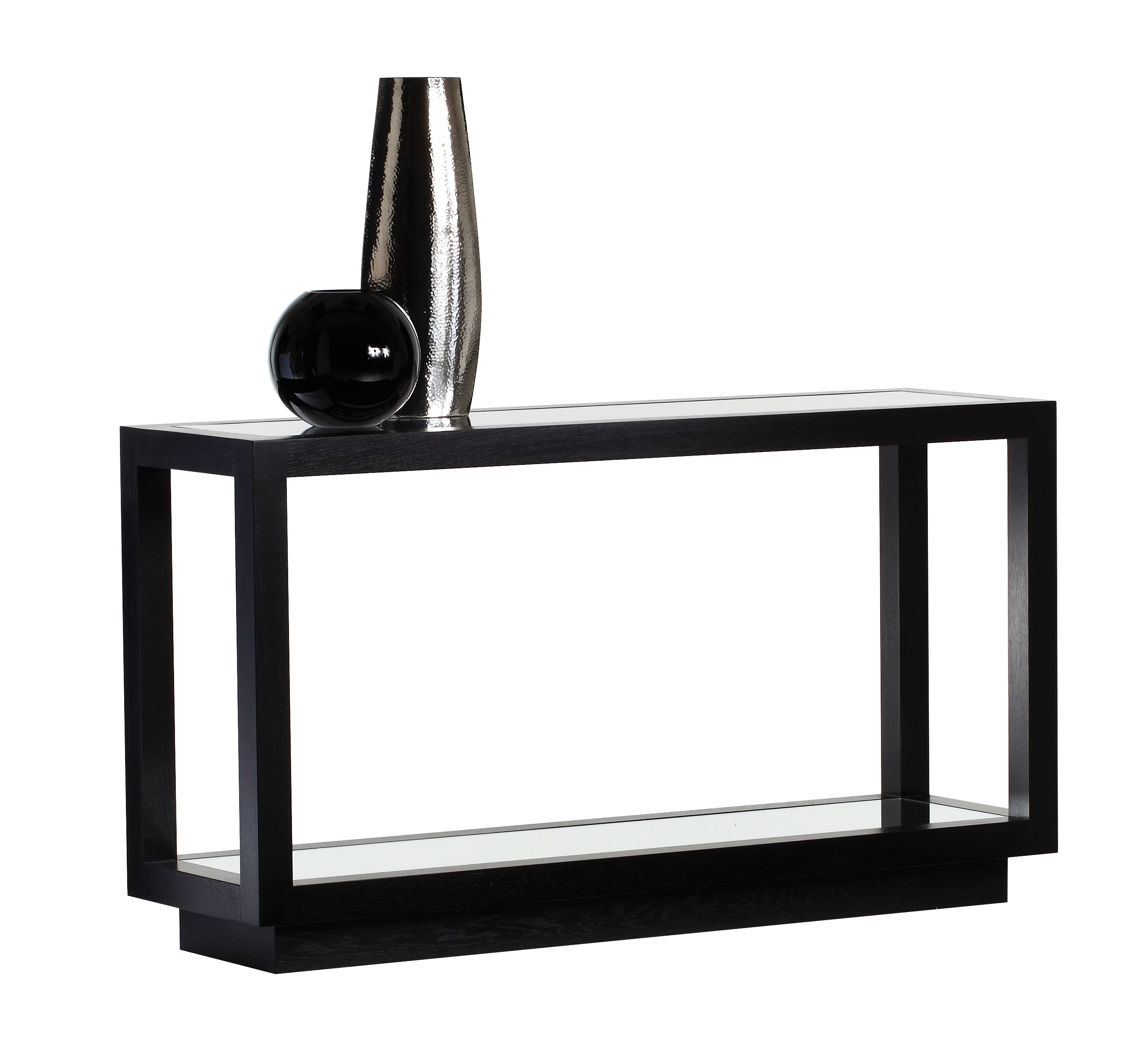 Carina Console Table Black Satin Michael Northcroft Argento  # Muebles Tipo Wimpy