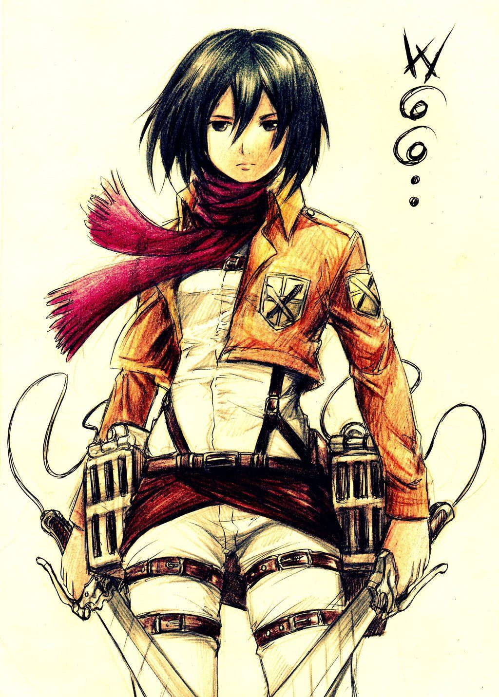 Awesome Mikasa art! AOT Anime 愛 Pinterest Mikasa