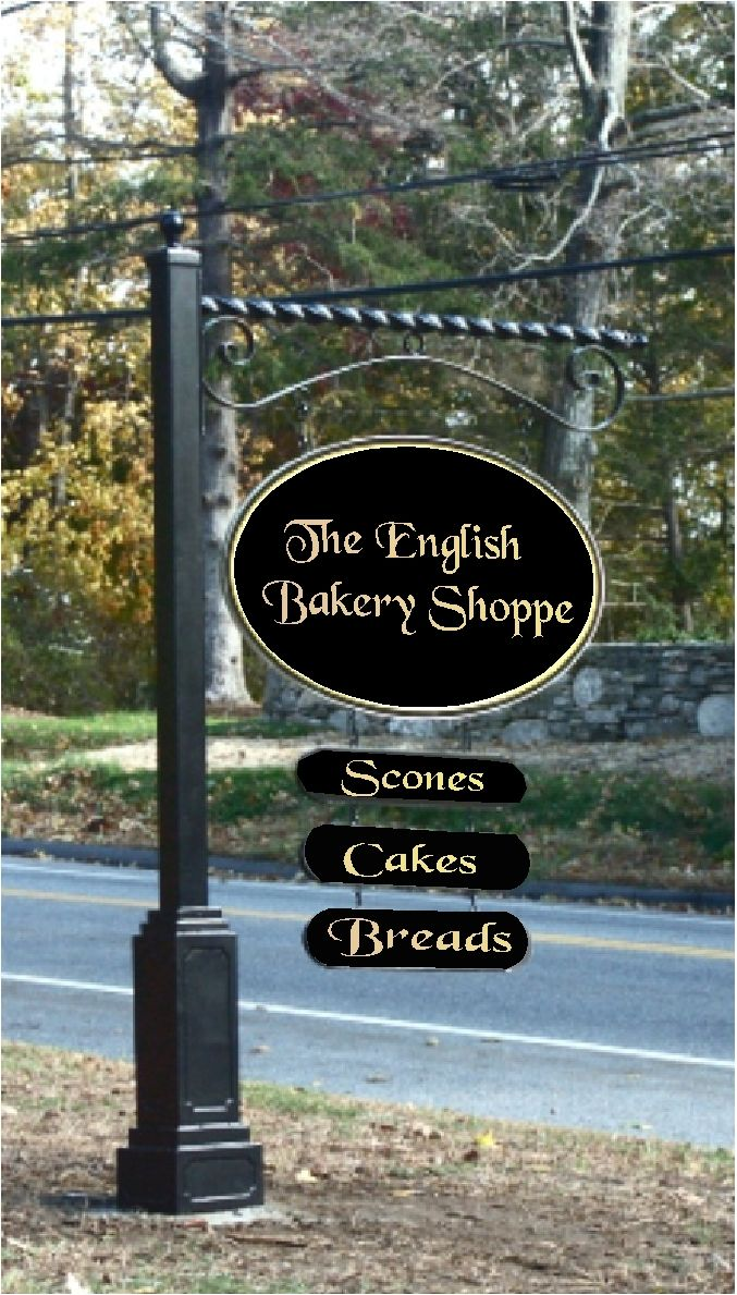 Art Signworks Wrought Iron Scroll Brackets Posts For Signs Bakery Sign Business Signs Outdoor Outdoor Signs