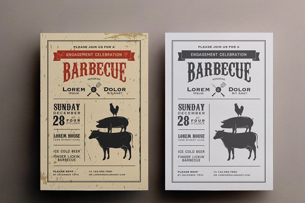 BBQ invitation template - Invitations