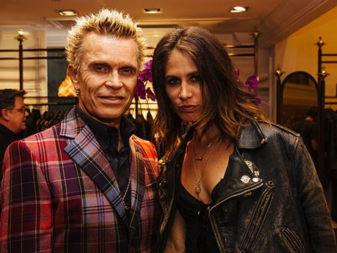 Billy Idol comgostosa, namorada Lindsay Cross