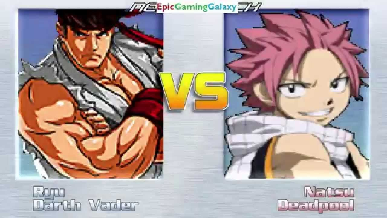 Darth Vader The Sith Lord And Ryu VS Natsu Dragneel And Deadpool In A MUGEN Match / Battle / Fight This video showcases Gameplay of Ryu From The Street Fighter Series And Darth Vader The Sith Lord From The Star Wars Series VS Natsu Dragneel From The Fairy Tail Series And Deadpool In A MUGEN Match / Battle / Fight