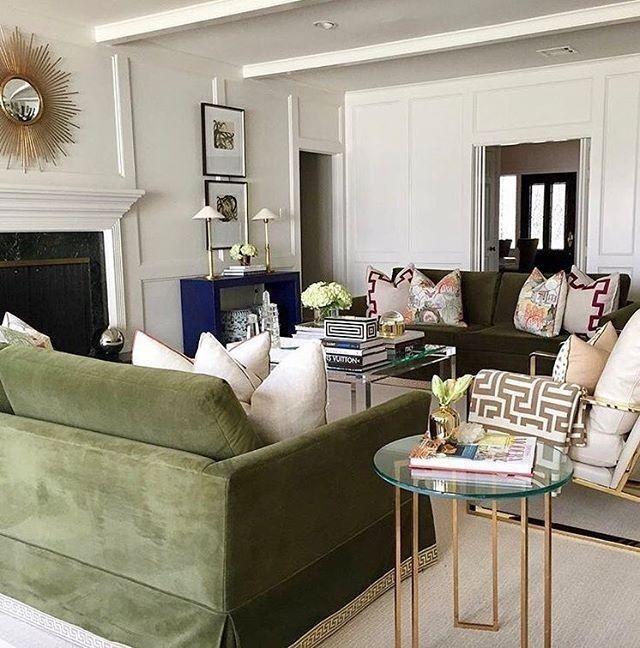44 elegant green living room design ideas with images