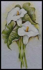 Resultado De Imagen Para Cuadros De Calas Pintadas En Acrilico Tulips Art Flower Art Flower Art Painting