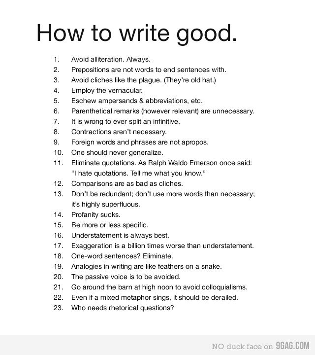 How to write good Hilarious, English class and English - how to write a