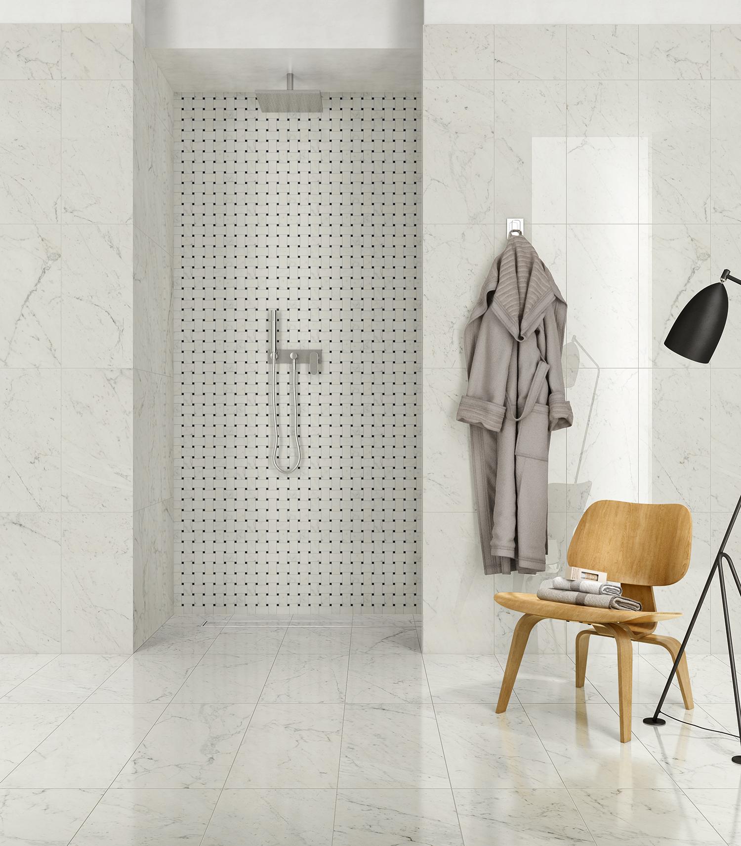 Classic Carrara Marble Bathrooms: Classic 2.0 Collection