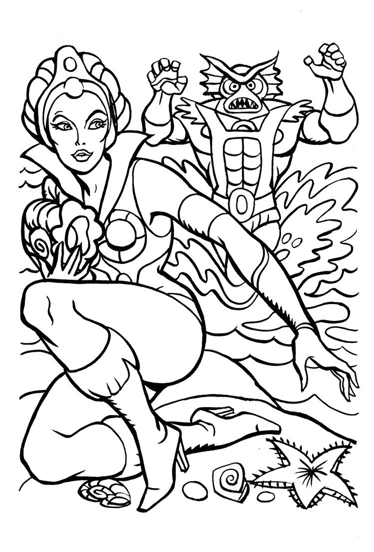 James Eatock Presents The He Man And She Ra Blog Coloring Book 4 Mer Man Cartoon Coloring Pages Coloring Books Coloring Pages