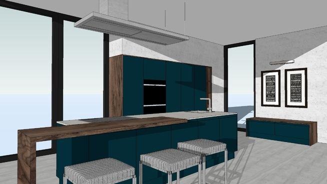Large preview of 3D Model of LUCCA Deep Ocean - WITT Kitchen
