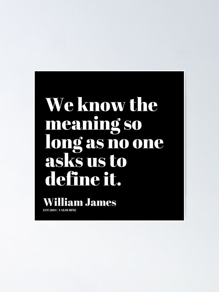 '80  | William James Quote| 201025 Father of Psychology Quote ' Poster by valourine